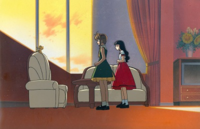 If I don't hurry... - Kero, Sakura, and Tomoyo