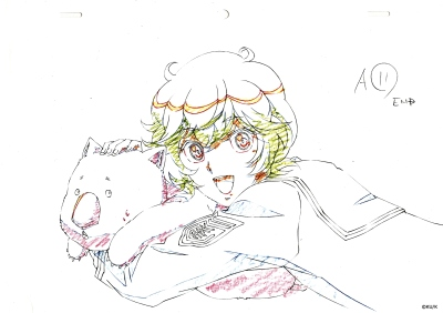 Hakone Yumoto OP Repro Genga - Cute High Earth Defense Club LOVE!
